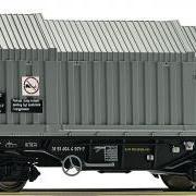 Wagon towarowy z teleskopowymi ścianami Simms (Roco 67537)